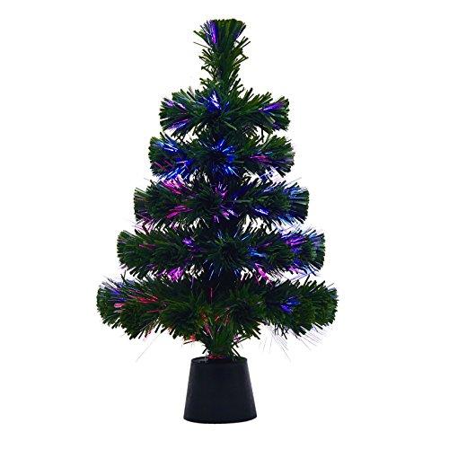 Youseexmas 18' Fiberoptic LED Color Changing Green Tree Standard