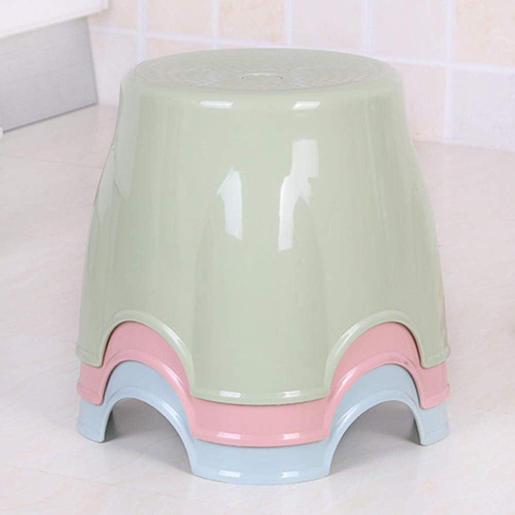 ZHAOFENGE-Tabourets Tabouret Rond en Plastique pour Les Ménages Tabouret Bas Petite Chaise Mode Créativité Siège Adulte Banc pour Enfants (Couleur : Rose) Bleu