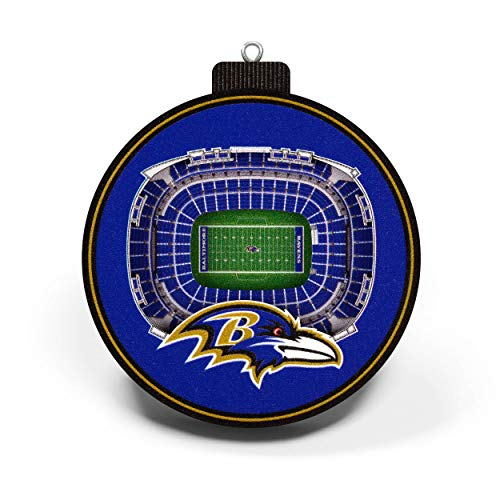 NFL Baltimore Ravens - M&T Bank Stadium 3D StadiumView Ornament3D StadiumView Ornament, Team Colors, Large