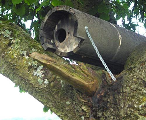 Naturschutzprodukt Steinkauz Nistkasten Nisthöhle Steinkauzröhre Typ 20A Flugloch Durchmesser 65 mm mit Marderschutz aus Holzbeton Länge 83 cm