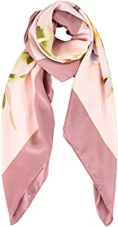 Shawls Silk Scarf Female Silk 100% Silk Scarf air Conditioning Shawl Sunscreen Summer Scarf Fashion Wild Hand-Painted Large Square Towel 110cm Scarves (Color : Pink, Size : 110 * 110cm)