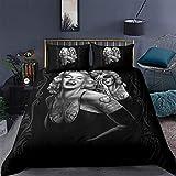 AQEWXBB Ylight Marilyn Monroe - Juego de funda de edredón y 2 fundas de almohada (1 funda de edredón y 2 fundas de almohada), A,US King (104 x 90 pulgadas) (Marilyn4,140 x 210 cm + 80 x 80 cm x 2)
