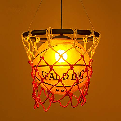 Luz de techo mgwa Retro creativo Baloncesto Hierro + Acrílico + Redes de baloncesto Dormitorio Sala de estar Comedor Sala de estudio Lámpara/Lámpara de techo/Lámpara