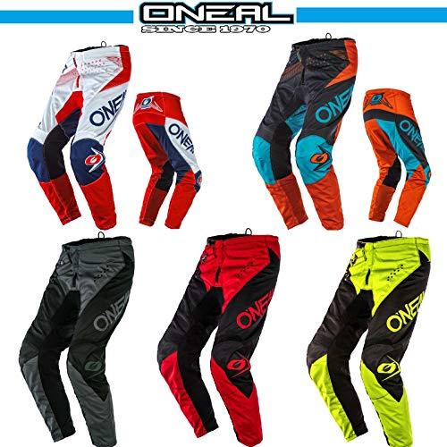 O'Neal ELEMENT 2020 Motocross Hosen Motorradhose Quad Off-Road Rennen Bikerhose Sports MTB Downhill Crosshose, Ganzj?hrig MX Pants f?r Erwachsene (Schwarz-Rot,3XL/40)