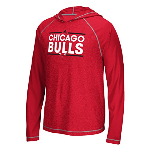 adidas Chicago Bulls Tip-Off Dassler Hooded Long Sleeve T Shirt (X-Large)