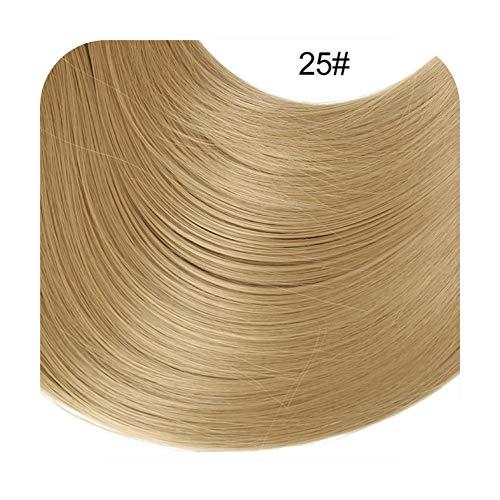 20 '' Clip Ondulé Dans Extension De Cheveux Long Ombre Naturel Synthétique Morceau De Cheveux Résistant À La Chaleur Faux Postiches Pour Femmes-Light Sandy Blonde-20Inches