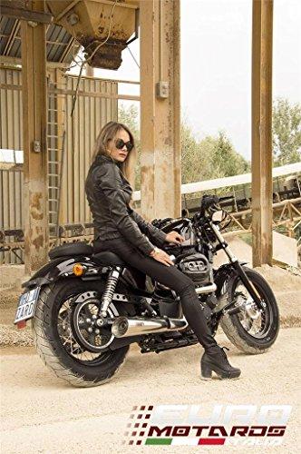 Harley Davidson Sportster 2004-2013 Zard Impianto Scarico Completo Sport Lucidato Omologato System Exhaust