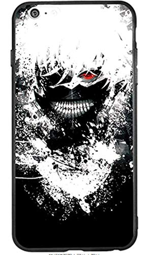 RNGEDG - Carcasa para iPhone 6 y 6S, iPhone 6 Plus, iPhone 6S Plus, iPhone 7, iPhone 8, iPhone 7 Plus, iPhone 8 Plus, iPhone 8 Plus, iPhone 8, Ghoul Manga Anime Comic (Poliuretano termoplástico)