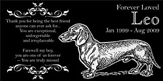 Lazzari Collections Personalized Dachshund Pet Memorial 12
