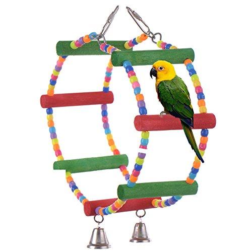 LianLe Juguete de madera para pájaros - periquitos - loros