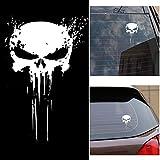 Carrfan Punisher Skull Blood Vinyl Car Stickers Calcomanías Motos Decoración
