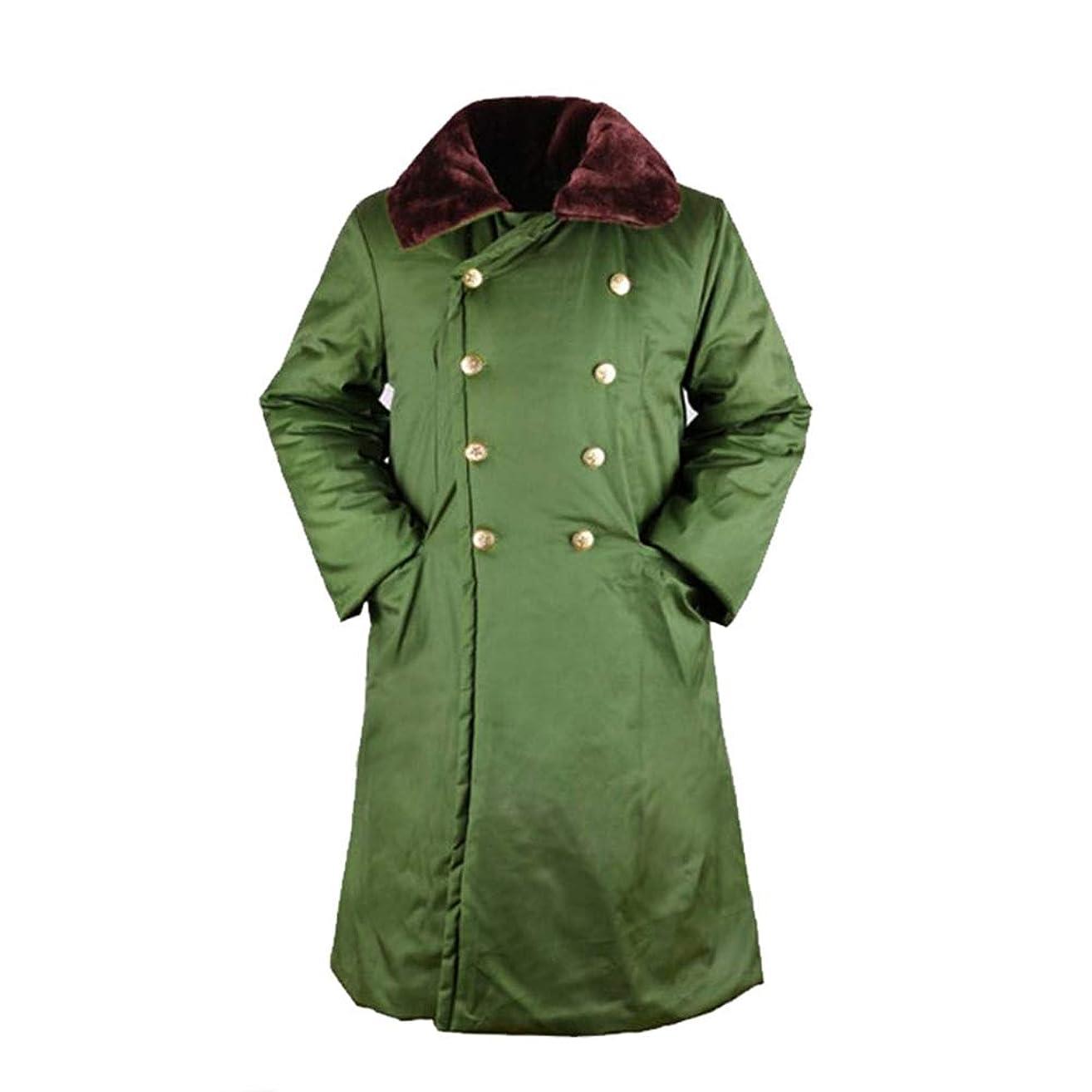 メーカー規定苦しみ陸軍の制服のジャケットの綿のコート長いセクション、男性と女性の軍服のための秋と冬の屋外暖かい綿のジャケット、防風性、通気性、防水冬のコート