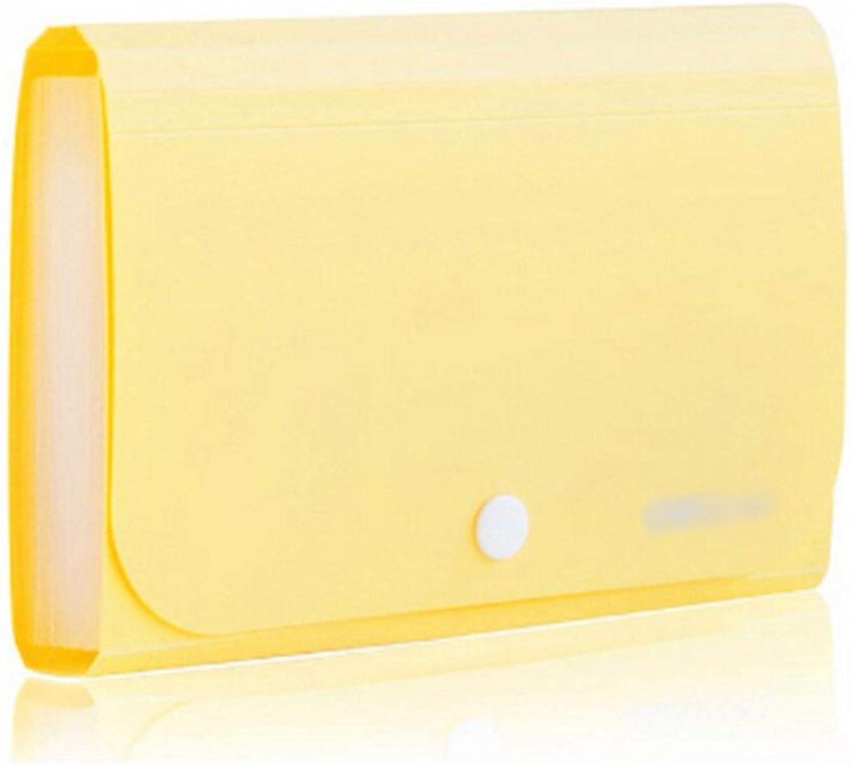 Liu Yu·Büroflächen, Bürobedarf gelb Button Abzug Ordner Ordner Ordner 12-Layer-Datei-Paket 178  115mm B071R8RYMG | In hohem Grade geschätzt und weit vertrautes herein und heraus  467691