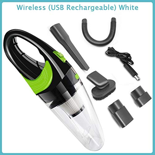 Lowest Prices! Portable Car Vacuum Wireless/Cable Cleaner 120W 4000Kpa Handheld Powerful Cordless We...