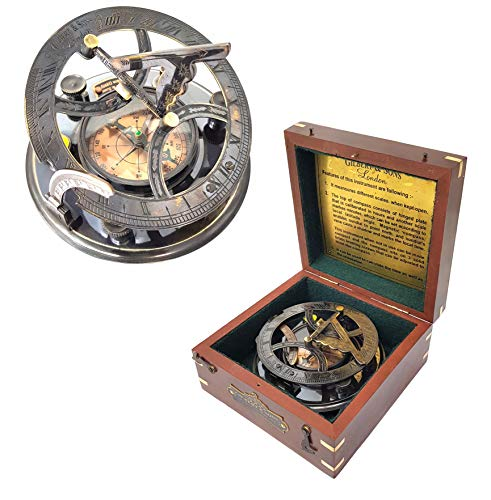 Messing Nautische Sonnenuhr Kompass kaufen Marine Sonnenuhr Kompass–Gilbert & Sons Sonnenuhr