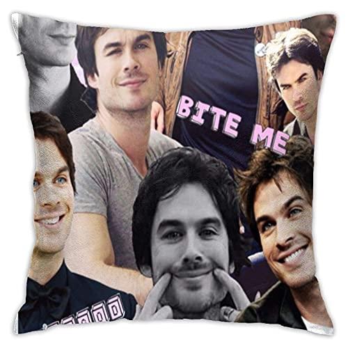 Kingam - Federa per cuscino con scritta 'Vampire Diaries' Damon Salvatore', per camera da letto, divano, soggiorno, 45 x 45 cm