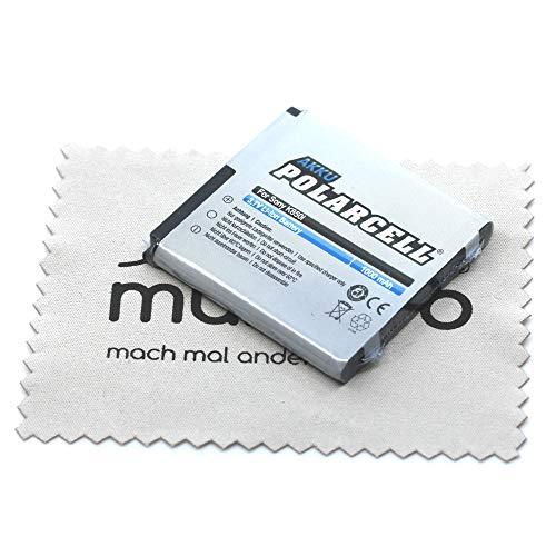 Ersatz Akku passend für Sony Ericsson C510i C902i C905i F100i K770i K850i S500i T650i W580i W760i W980i W995i X10mini pro (Ersetzt Originalakku BST-38) Polarcell mit mungoo Bildschirmputztuch