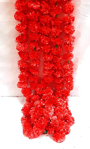 ZT|Indian Home Decorative Flower Mala for decore Your Home in Festival 12 Pcs 1 Meter Each.Garlands