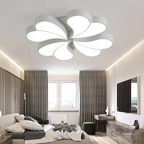 QCSMegy Lámpara de techo LED con forma de corazón para dormitorio, creativa, plana, para sala de estar, comedor, techo, lámpara de decoración moderna (tamaño: 62 x 62 cm)