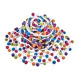 PandaHall Elite 25 m (27 yardas) con pompones de arco iris para manualidades, suministros de costura, colores