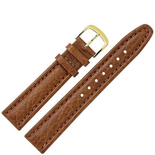 MARBURGER Uhrenarmband 18mm Leder Braun Büffel - Werkzeug Montage Set 7861832000220