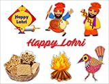 Lohri Laser Cutout Motives in MDF Size : 3 inches Material : MDF