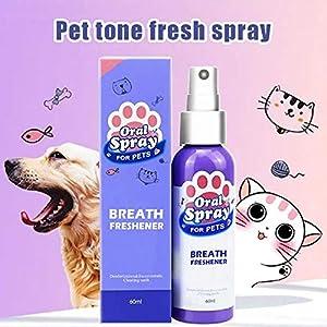 Suppyfly Pet Spray Dog Oral Care Bad Breath Teeth Cleaning Breath Freshener Plaque Remover