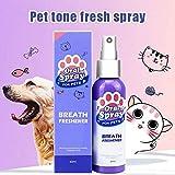 Teekit Pet Spray Dog Oral Care Bad Breath Teeth Cleaning Breath Freshener Plaque Remover