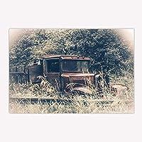 Assanu ヴィンテージバス敷物アンティークカーで森滑り止め玄関フロア玄関屋内玄関マット浴室ラグ15.7x23.6in