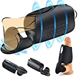 Handsfree USB Rechargeab Automatic Piston Rotating Electronic Massage Cup Pocket Puss-ey Stroker for Men, Auto Sucking Vibrating Pussy Toys, Sexy Underwear Pleasure Toys ZXY1