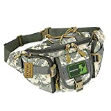 HUNTVP Tactical Waist Pack Bag Military Fanny Packs WR Hip Belt Bag Pouch for Hiking Climbing Outdoor Bumbag-ACU Camouflage