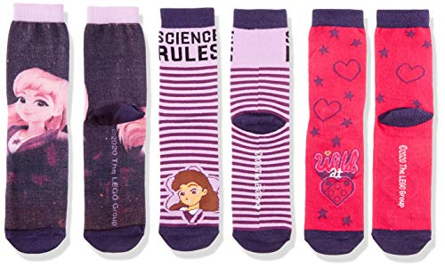 LEGO Mädchen MW Friends Dreier Pack Socken, 693 Dark Purple, 34/36