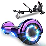 NEOMOTION Hoverboard de Overboard 6.5 Pulgadas y Hoverkart Patinete Eléctrico con Bluetooth LED Flash Scooter...