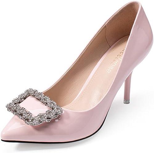 Chaussures d'été Version coréenne Occasionnelle de Chaussures Diamant Escarpins Pointus superficiels