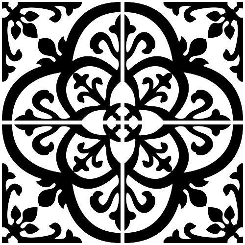 Brewster 2.6sq.ft Tile Paper Black/White