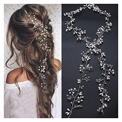 xiaofeng214 Pearl Crystal Wedding Hair Vine Crystal Bridal Accessories Diamante Diadema Noticias Románticas Mujeres Joyería de Pelo Belleza