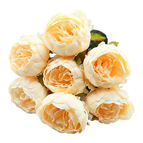 Hniunew Möbel Indoor Zierpflanze Kunstblume GefäLschte Blume Simulationstopf Dekor Plastikblume Dekoblume Textilblume KüNstlicher Blumenstrauß KüNstliche Pflanzen Hochzeit Seidenblumenstrauß