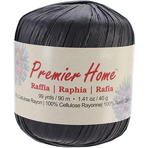 Premier Yarns Raffia Solids Yarn, Black