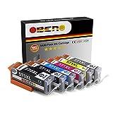 OBENO - 1 Set - PGI-570XL CLI-571XL 6 Pack Compatibile Cartucho De Tinta Compatible Para CANON PIXMA MG5750/5753/6853/7753 TS5050/6050(1 PG Negro, 1 Negro, 1 Cian, 1 Magenta, 1 Amarillo, 1 Gary)
