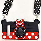 Galaxy S10 Case Cute Minnie Mouse 3D Camera with Rotating Ring Grip Holder Kickstand Lanyard Support Magnetic Car Mount Teens Girls Women Soft Silicone Rubber Cover for Samsung Galaxy S10 -6.1' (S10)