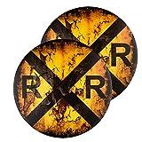 dojune-2 Pack Vintage Railroad Crossing...