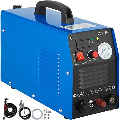 Mophorn 50Amp Non-Touch Pilot Arc Plasma Cutter, 110/220V Dual Voltage Plasma Cutting Machine, Max 1/2 Inch(14MM) Clean Cut, Portable Cutting Machine IGBT Inverter Digital Plasma Cutting Equipment