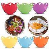 Amabest 6pcs Egg Poacher with Stand Design FDA Mini Silicone Egg Poacher Cups Egg Cooker No BPA Egg...