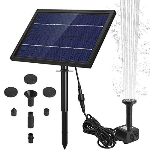 Ankway Fuente solar con bomba de agua Fuente para baño de pájaros, kit de panel solar de 8 W Fuente exterior para estanque pequeño al aire libre, jardín, patio y pecera
