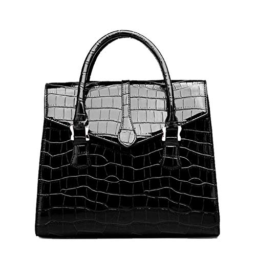 BSTLY Backpack Atmosphere Handbag Large Capacity Crocodile Pattern Shoulder Diagonal Bag Lightweight Stylish Casual Backpack Ladies Elegant Backpack