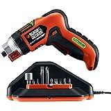 Black & Decker LI4000 - Destornillador eléctrico de litio con soporte de tornillo y herramientas de luz de trabajo, herramientas de mano