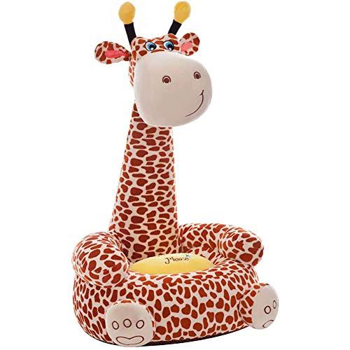 YUEHAPPY Divano Poltroncina Divanetto Bambini Peluche Forma Giraffa Sedia con Seduta Imbottita Arredo Stanzetta Cameretta Bimbi, Poltrona Soffice Alta qualità,Marrone
