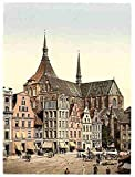 Marien Church Rostock Mecklenburg Schwerin A3 Box Canvas