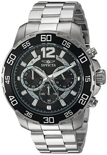 Invicta Men's Pro Diver Quartz Watch with Stainless-Steel Strap, Silver, 22 (Model: 22712)