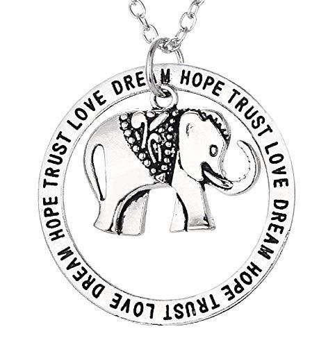 Olifant ketting - droom - - hoop - - liefde - vertrouwen - india - hanger - zilver - origineel cadeau idee dream hope trust love dream